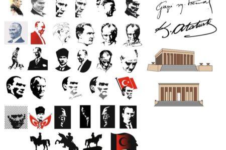 Vektörel Gazi Mustafa Kemal Atatürk Görselleri