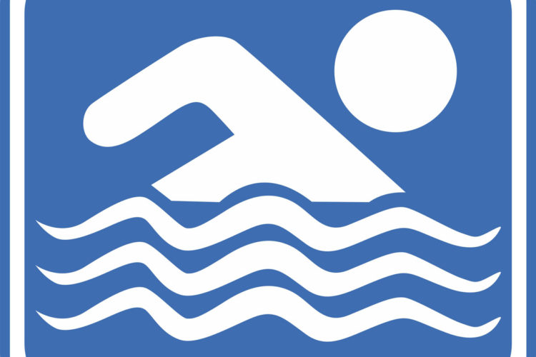 Yüzme Havuzu Uyarı Levhaları Vektörel Çizimleri