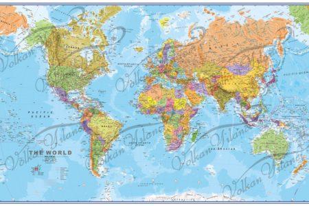 Büyük Boy Dünya Haritası Çizimi Satın Al