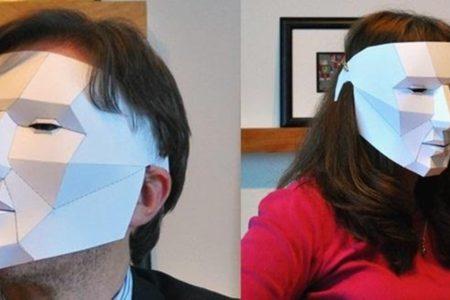Polygon Yüz Maskesi Şablonu